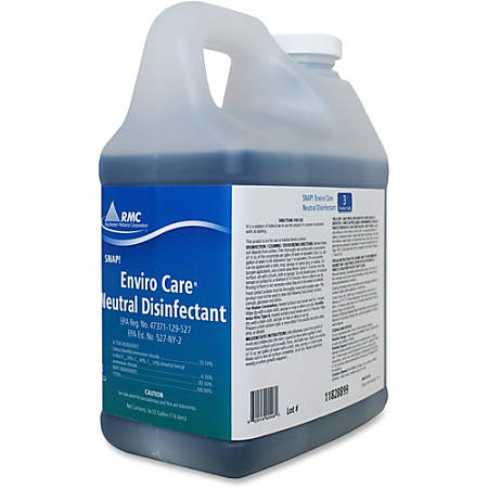 RMC Enviro Care Disinfect Cleaner - Concentrate - 0.50 gal (64 fl oz) - Neutral Scent - 4 / Carton - Blue