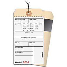 Prewired Manila Inventory Tags 2 Part