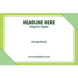 Adhesive Sign Green Checks Horizontal