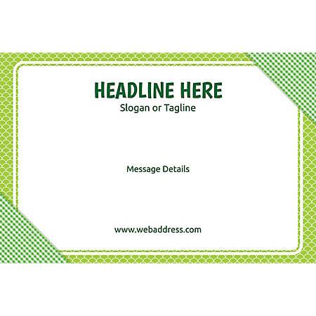 Adhesive Sign, Green Checks, Horizontal