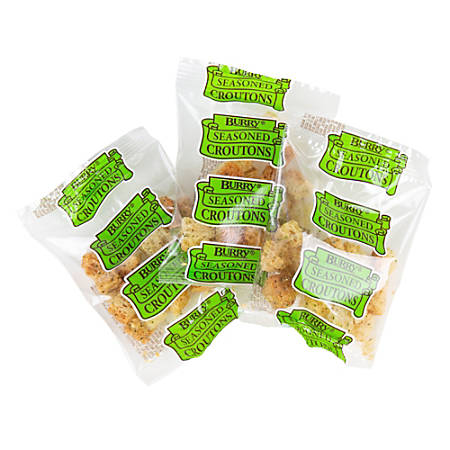 Burry Seasoned Crouton Packets, 0.25 Oz, Pack Of 250 Packets