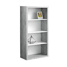 Monarch Specialties 4 Shelf Adjustable Bookcase