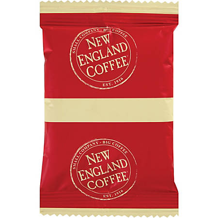 New England Colombian Supremo Coffee Single-Serve Packets, 2.5 Oz, Carton Of 24