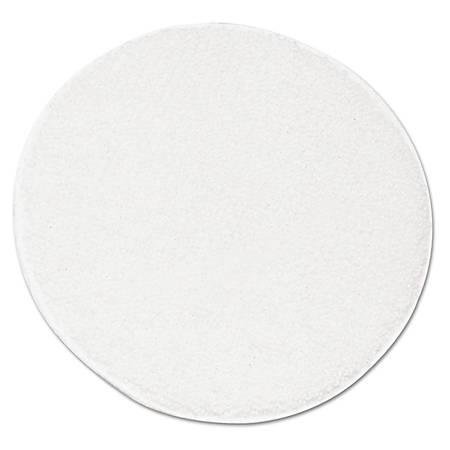 """Boardwalk® Rotary Yarn Carpet Bonnets, 19"""" Diameter, White, Pack Of 5 Bonnets"""