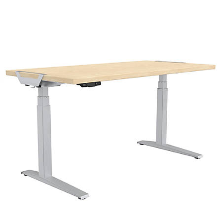 "Fellowes® Levado Height-Adjustable Desk, 60""W, Maple"