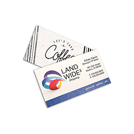 Full color raised print business cards 1 sided box of 250 by office full color raised print business cards reheart Images