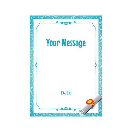 Flat Photo Greeting Card, Graduation Scroll, Vertical