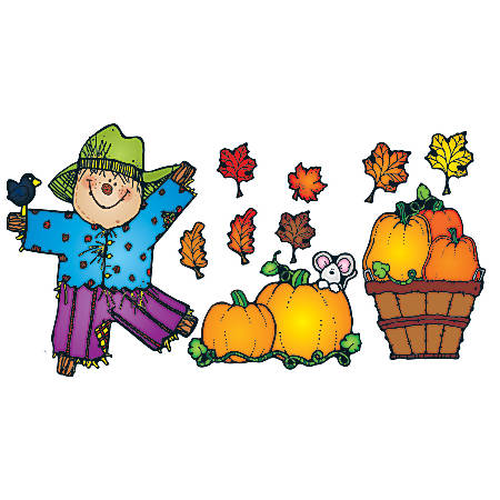 D.J. Inkers Pumpkin Patch Bulletin Board Set, Grades K - 3