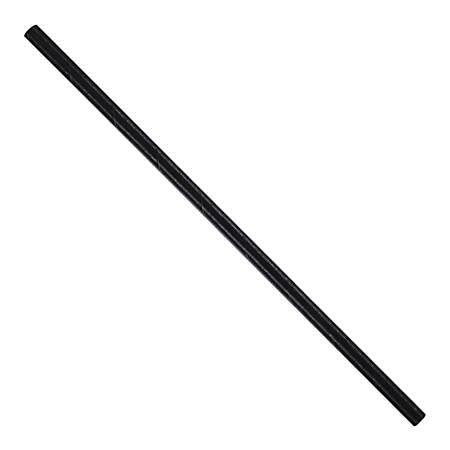 "Hoffmaster Paper Straws, 7-3/4"", Black, Pack Of 4,800 Straws"