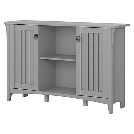 Bush Furniture Salinas Storage Cabinet With Doors, Cape Cod Gray, Standard Delivery