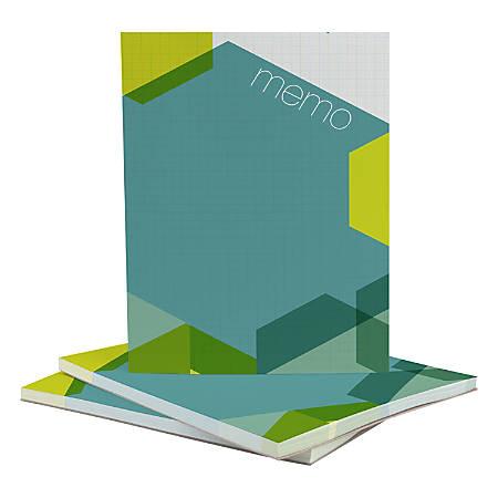 """Custom Full Color Memo Pads, 4-1/4"""" x 5-1/2"""", 50 Sheets Per Pad, Assorted Colors, Pack Of 5 Pads"""