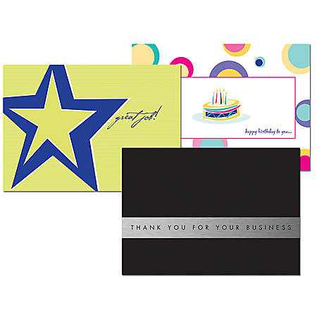 "Full-Color Greeting Cards, Folded, 8"" x 5 1/2"", Box Of 10"