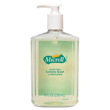 Gojo® Antibacterial Lotion Soap - 8 fl oz (236.6 mL) - Push Pump Dispenser - Hand - Anti-bacterial - 1 Each