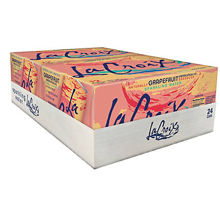 LaCroix Sparkling Water, Grapefruit, 12 Oz, Case Of 24 Cans