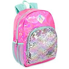 Trailmaker Sequin Hologram Backpack PinkGreen