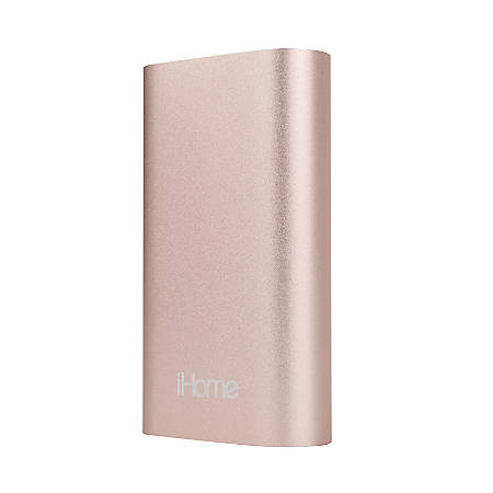 iHome SuperCharge 4,400 mAh External Battery, Rose Gold, IH-PP1002AR
