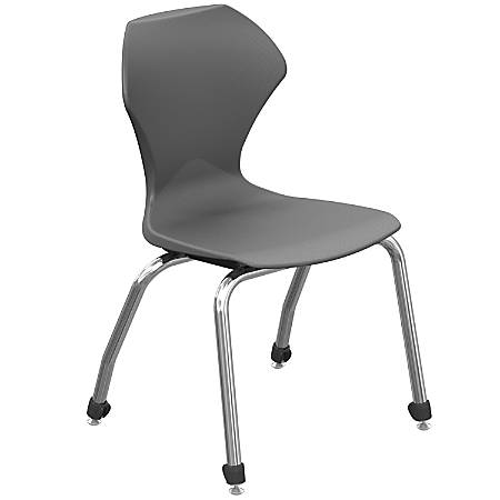"""Marco Group™ Apex™ Series Stacking Chairs, 18""""H, Charcoal/Chrome, Pack Of 4"""