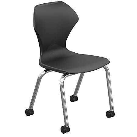 Marco Group Apex Mobile Stack Chairs, Black/Chrome, Pack Of 2