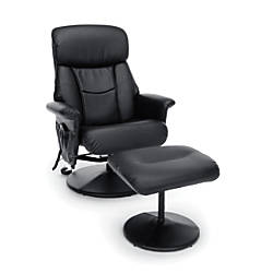 Essentials By OFM Bonded Leather Heated
