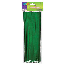 Chenille Kraft Green Jumbo Pipe Cleaners