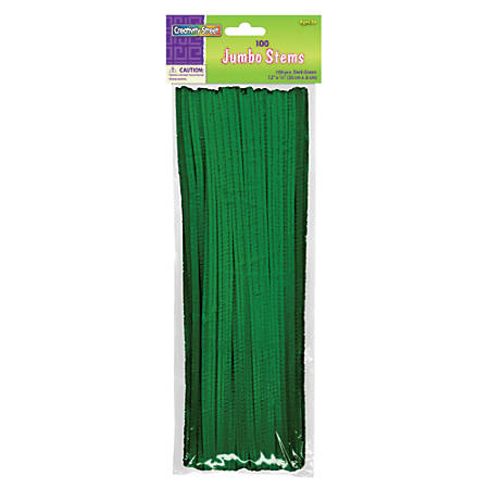 Chenille Kraft Green Jumbo Pipe Cleaners, Pack Of 100