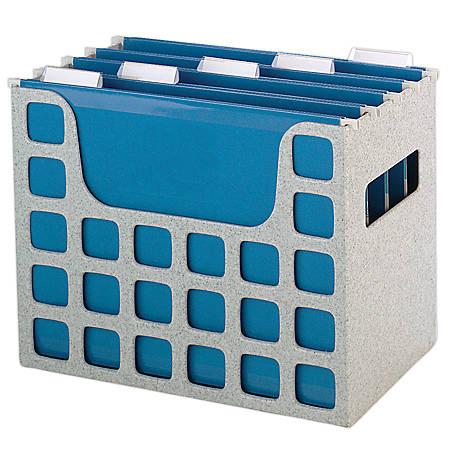 """Pendaflex® Super Decoflex®, 5 File Folders, 9 1/2""""H x 12 3/16""""W x 6""""D, Granite"""