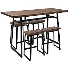 Lumisource Geo Industrial BlackBrown Counter Table