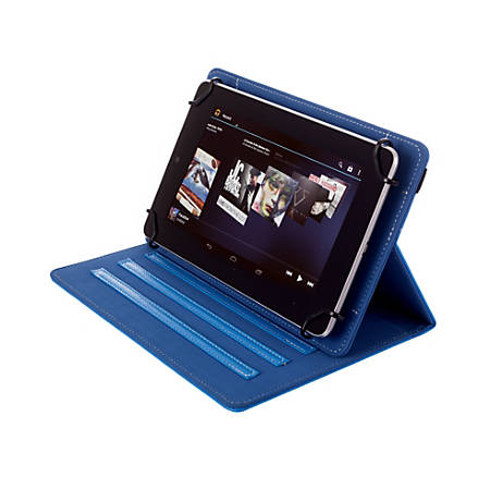 "Kyasi Seattle Classic Universal Folio Case For 7 - 8"" Tablets, October Blue, KYSCUN78C5"