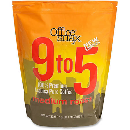 Office Snax® 9 To 5 Regular Medium Roast Coffee, 33.9 Oz Bag