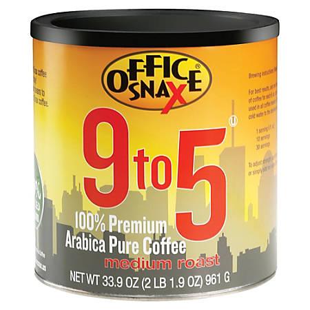 Office Snax 9 To 5 Regular Medium Roast Coffee, 33.9 Oz