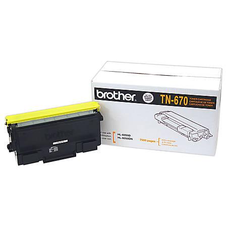 Brother® TN-670 Black Toner Cartridge