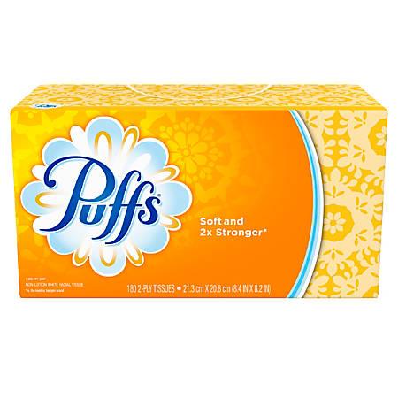 Puffs White 2-Ply Facial Tissue, 180 Sheets Per Box