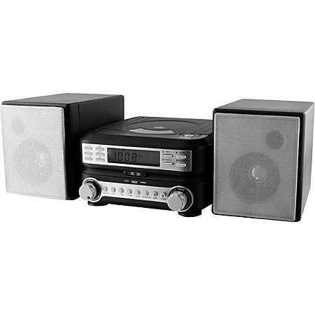 GPX HC221B Micro Hi-Fi System - AM, FM - CD-RW - 2 Speaker(s) - MP3 - Remote Control