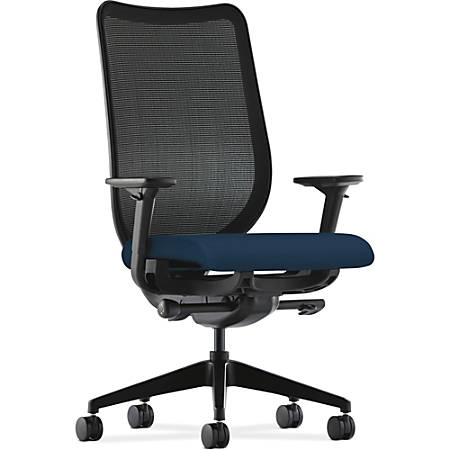 "HON Nucleus Knit Mesh Back Task Chair - Polyester Navy Seat - Steel Frame - 5-star Base - 20"" Seat Width x 20"" Seat Depth - 28.8"" Width x 25.8"" Depth x 45.3"" Height"