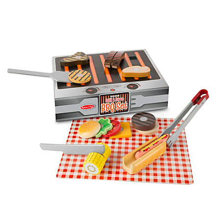 Melissa & Doug Grill And Serve BBQ Set, Pre-K - Grade 1