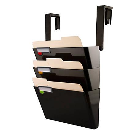 Innovative Storage Designs Hanging Wall File Set Of 3, Letter Size, Black