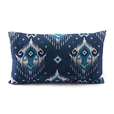 Zuo Modern Ikat Pillow 1 BlueNatural