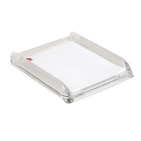 """Swingline® Stratus™ Acrylic Document Tray, 13 1/4""""H x 10 3/4""""W x 2 1/2""""D, Clear"""