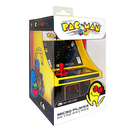 DreamGear Collectible Retro Micro Player, Pac-Man, Yellow