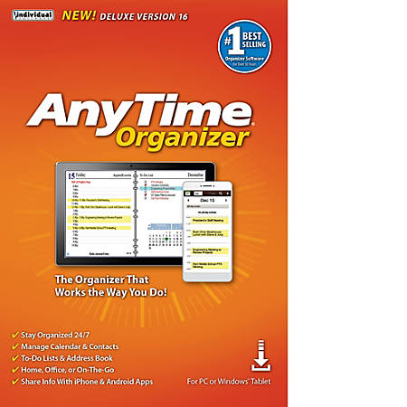 AnyTime Organizer Deluxe 16, Download Version