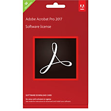 Adobe Acrobat Pro 2017 Product Key