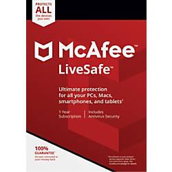 McAfee LiveSafe For PCMac eCard