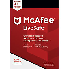McAfee LiveSafe For PCApple Mac eCard