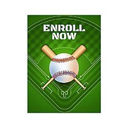 Plastic Sign Enroll Now For Baseball