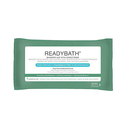 ReadyBath Rinse-Free Shampoo And Conditioning Caps, Unscented, Case Of 30