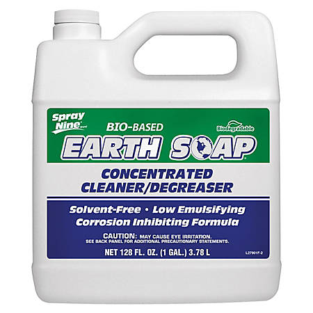 Permatex Spray Nine Earth Soap Concentrated Bio-Based Cleaner/Degreaser, 128 Oz, Clear