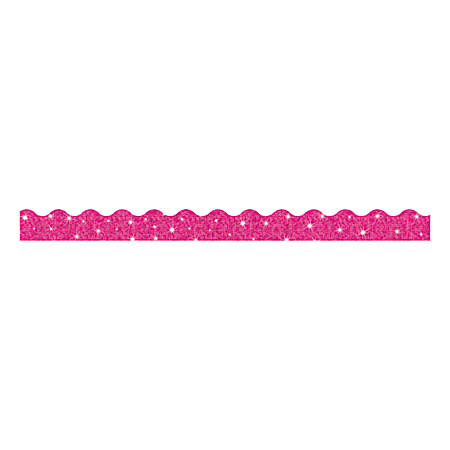 "TREND Sparkle Terrific Trimmers, 2 1/4"" x 39"", Hot Pink, Pack Of 10"