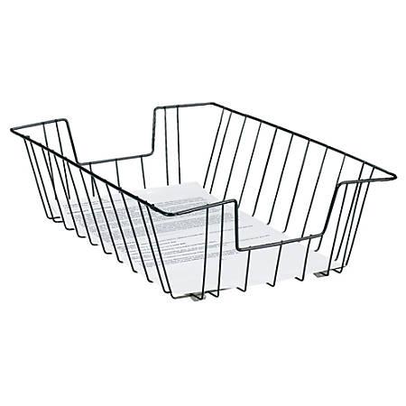 Brenton Studio™ Deep Legal-Size Wire Desk Tray, Black