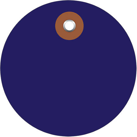 """Office Depot® Brand Prewired Plastic Circle Tags, 2"""", Blue, Pack Of 100"""