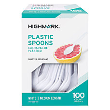 Highmark Medium Length Plastic Cutlery Spoons